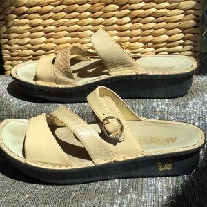 Alegria woman's size 11.5 tan sandals
